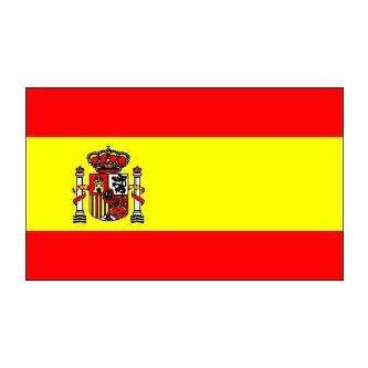 Drapeau Espagne avec écusson 150 x 225 cm