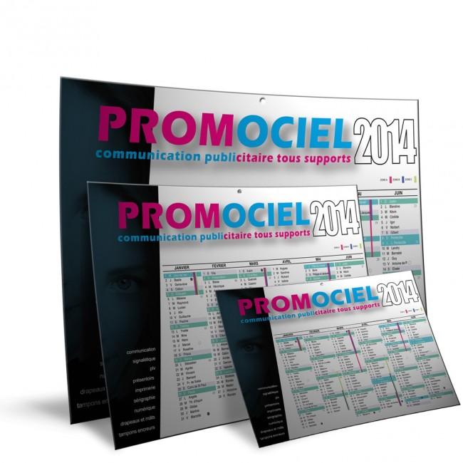 Différents formats de calendriers personnalisés en vente chez Promociel