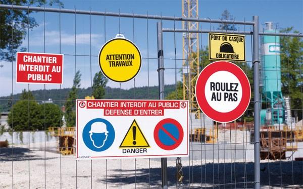 Panneaux de chantier en akilux