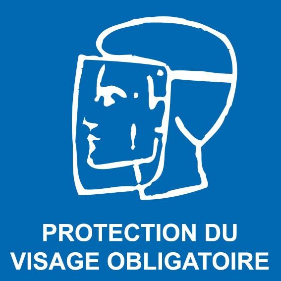 Autocollant protection du visage obligatoire en vente chez Promociel