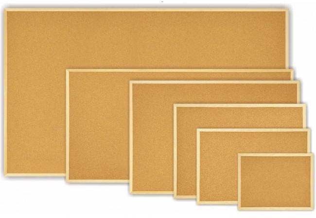 Différents formats de tableaux en liège en vente chez Promociel