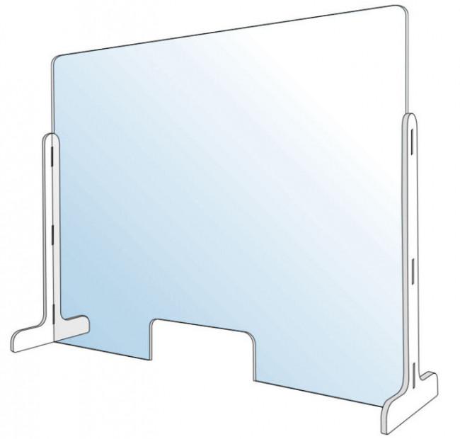 Vitre de protection en plexiglas pour comptoir 100 x 70 cm en vente chez Promociel