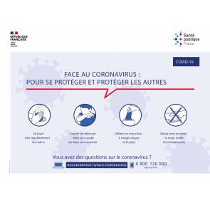 affiche de prévention contre la coronavirus disponible chez Promociel