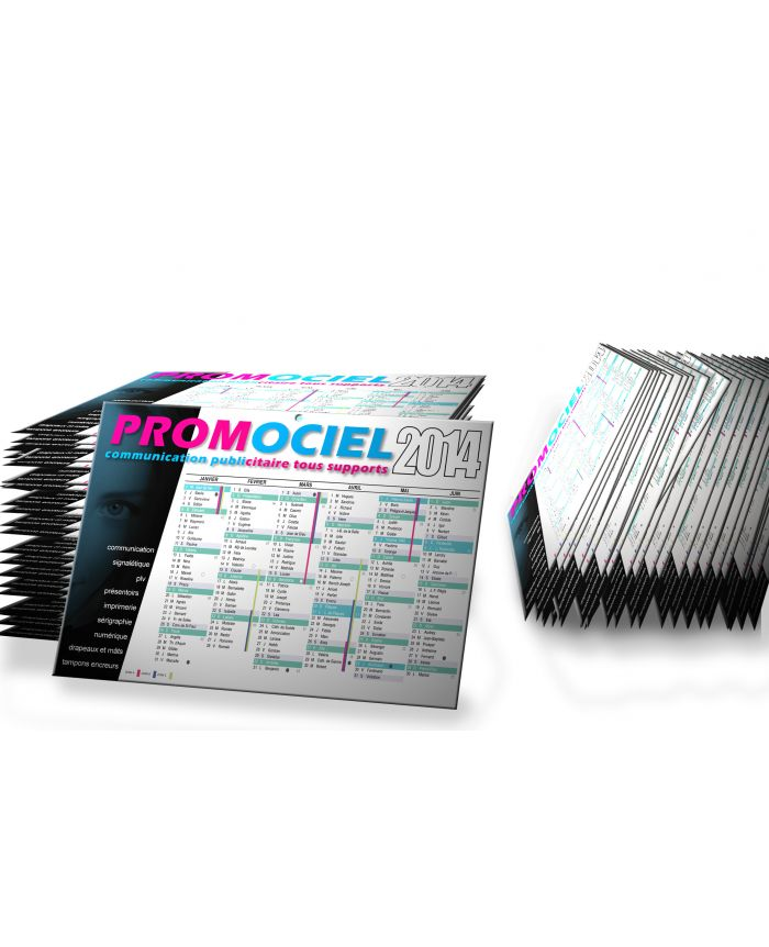 Calendriers bancaires A5 personnalisés chez Promociel