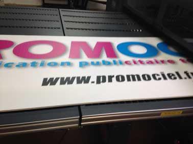 plaque de PVC expansé imprimée chez Promociel