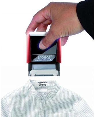 Marquage avec le Tampon encreur printy 4911 Textile personnalisé