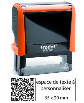 Tampon encreur printy 4913 personnalisé avec flash code / QR code internet