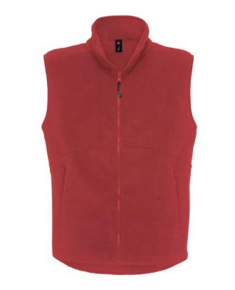 Gilet polaire traveller rouge