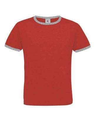 T-shirt men only play rouge et gris