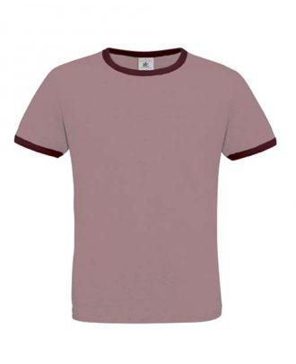 T-shirt men only play violet et burgundy