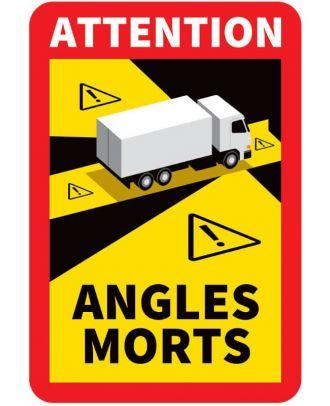 Autocollant angles morts camion 17 x 25 cm
