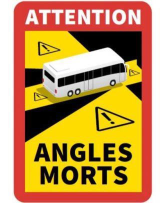 Autocollant angles morts Bus 17 x 25 cm