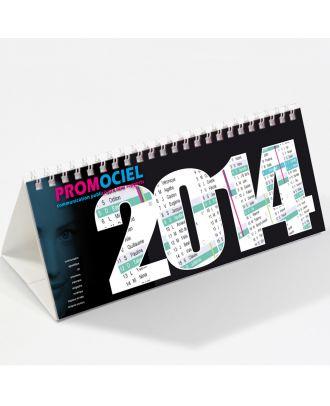 Chevalet calendrier personnalisé 30 x 10 cm par 500 ex