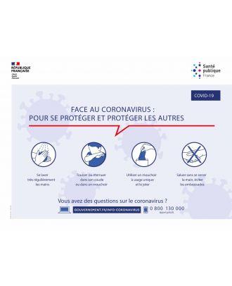 Panneau Coronavirus Covid-19 officiel 40 x 30 cm PVC