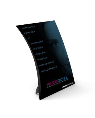 Chevalet carton personnalisé COURBE4
