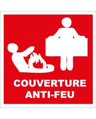 Autocollant d'incendie couverture anti-feu