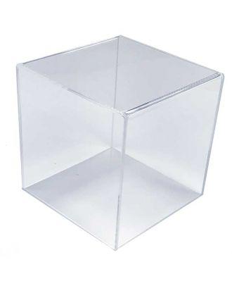 Cube plexiglas 150 x 150 x 150 mm en mode podium ou cloche