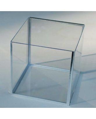 Cube plexiglas 400 x 400 x 400 mm fond gris