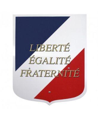 Ecusson porte drapeau France avec devise