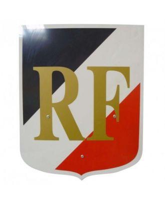 Ecusson porte drapeau France avec sigle RF