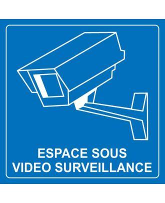 Panneau espace sous vidéo surveillance 2 PVC