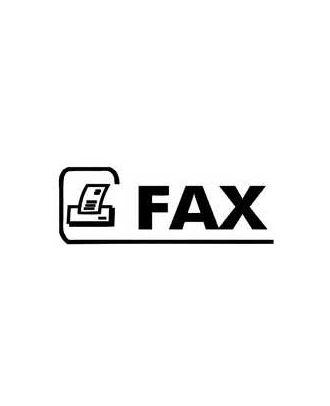 Empreinte de tampon fax