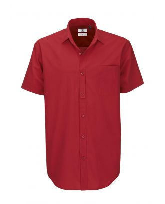 Chemise HERITAGE rouge manches courtes