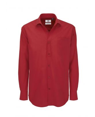 Chemise HERITAGE rouge manches longues