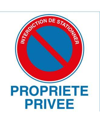 Autocollant interdiction de stationner propriété privée