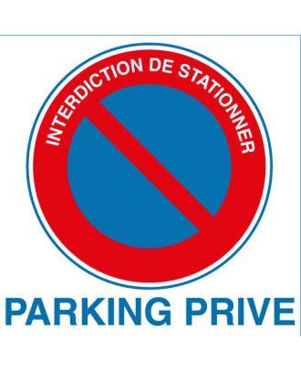 Panneau PVC interdiction de stationner parking privé