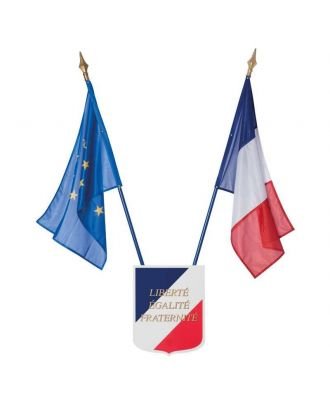 Kit drapeaux France Europe école loi Peillon 60 x 90 cm