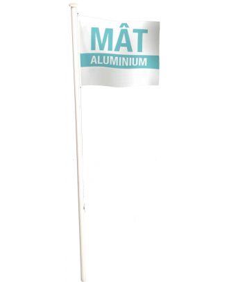 Mât aluminium 7 m porte drapeau