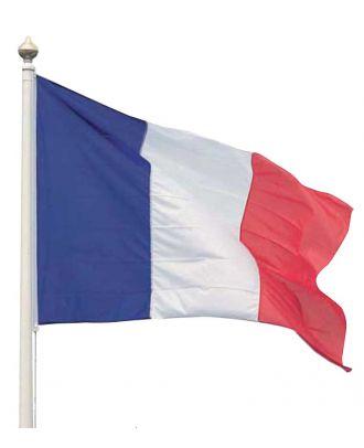 Drapeau France 100 x 150 cm hissé sur un mat polyester