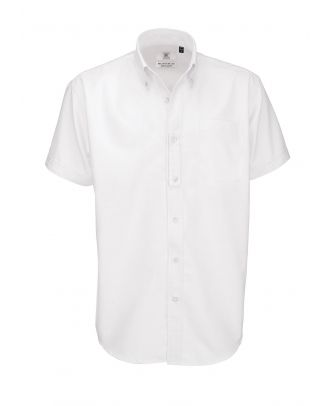Chemise manches courtes Homme B&C Oxford blanche