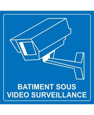 Autocollant bâtiment sous surveillance vidéo 2