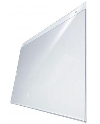 Pochette murale plexiglas A3 Horizontale prépercée de coté