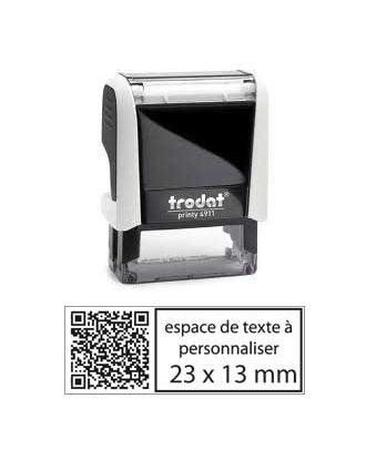 Tampon encreur printy 4911 personnalisé avec flash code / QR code internet