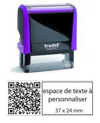 Tampon encreur printy 4914 personnalisé avec flash code / QR code internet