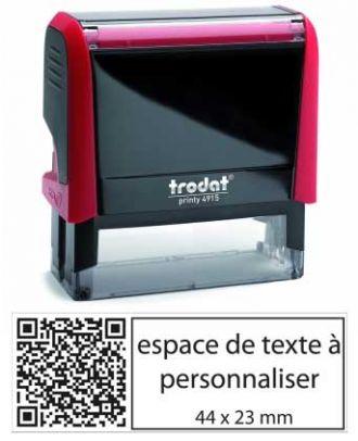 Tampon encreur printy 4915 personnalisé avec flash code / QR code internet comme empreinte