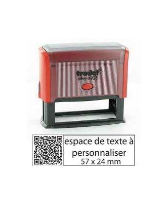 Tampon encreur printy 4925 personnalisé avec flash code / QR code internet