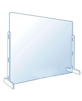 Vitre de protection en plexiglas pour comptoir 75 x 50 cm sans passe document