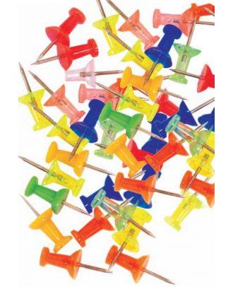 lot de 25 punaises en épingles métalliques de couleur
