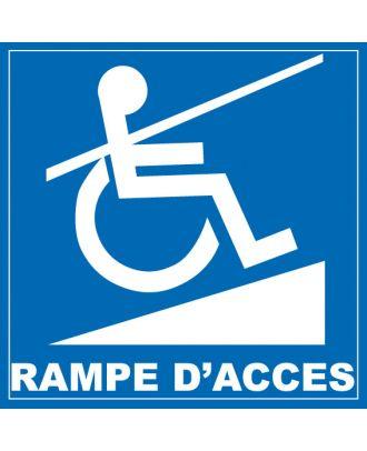 Autocollant rampe d'accès handicapé