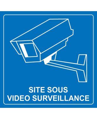 Panneau site sous surveillance vidéo 2 PVC