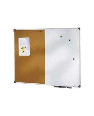 Tableau magnétique/liège 60 x 90 cm cadre alu