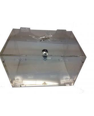 Urne démontable en plexiglas DMTB vue du haut