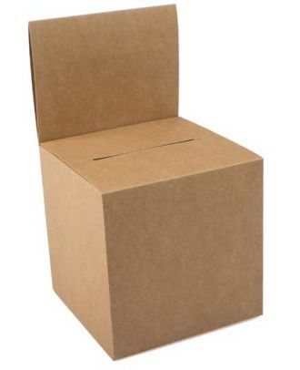 Urne carton brun vierge