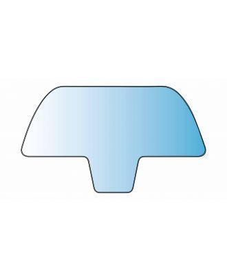 Vitre de protection en plexiglas pour véhicule 129.5 x 75 cm